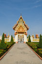 Thai temple church door Royalty Free Stock Photos