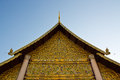 THAI TEMPLE WITH CLOUD Royalty Free Stock Photo