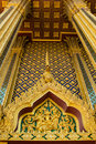 Thai temple detail of in thailand Royalty Free Stock Image