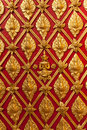 Thai Temple Golden Carving Wall Royalty Free Stock Images