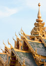 Thai temple roof Stock Images