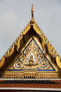 Thai temple roof in wat phra kaew bangkok thailand this picture is part of Royalty Free Stock Images