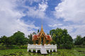Thai temple on the water at Rama 9 Garden