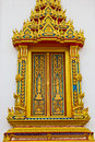 Thai temple window Stock Images