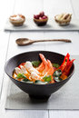 Thai tom yum soup kung with shrimp Stock Image
