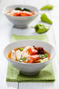 Thai tom yum soup kung with shrimp Royalty Free Stock Photo