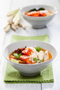 Thai tom yum soup kung with shrimp Stock Photo