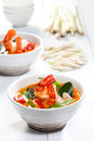 Thai tom yum soup with shrimp Stock Image