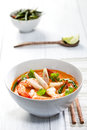 Thai tom yum soup with shrimp Stock Photography