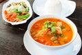 Thai traditional food (Tom Yum Goong) Royalty Free Stock Photo