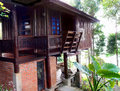 Thai traditional house with veranda Royalty Free Stock Photos