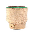 Thai traditional wooden rice box Royalty Free Stock Photo