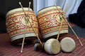 Thai twin drum Royalty Free Stock Photo