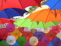 Thai umbrella the display sankhampaeng chiangmai thailand Royalty Free Stock Images