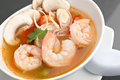 Thai Vegetable Soup with Shrimp Royalty Free Stock Photo