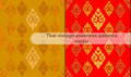 Thai vintage seamless patterns vector abstract background Royalty Free Stock Photo