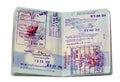 Thai visa stamps Royalty Free Stock Photo