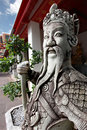 Thai Warrior Sculpture Royalty Free Stock Photography