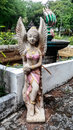 Thai woman angel statue art Stock Image