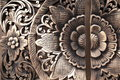 Thai wood craving traditional in flower shape Royalty Free Stock Photography