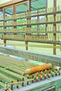 Thai woven silk machine in old style Stock Images