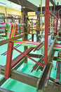 Thai woven silk machine in old style Stock Photography