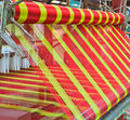 Thai woven silk machine in old style Stock Photos