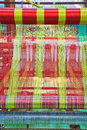 Thai woven silk machine in old style Royalty Free Stock Photography