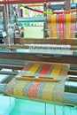 Thai woven silk machine in old style Royalty Free Stock Image