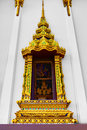 Thailand Architecture. Buddhist Pagoda At Wat Phra Yai Temple. L Royalty Free Stock Photo