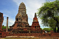 Thailand Ayutthaya Wat Ratburana or Ratchaburana Stock Photo