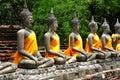 Thailand Ayutthaya Wat Yai Chai Mongkhon Royalty Free Stock Photo