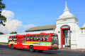 Thailand Bangkok Grand Palace and City Bus Royalty Free Stock Photo