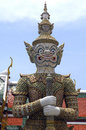 Thailand, Bangkok: Grand palace's statue Royalty Free Stock Images