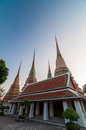 Thailand, Bangkok. Histirical and culture legacy, Tample of Dawn, Gold Buddhas Stock Photo