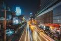 Thailand bangkok night bangkok street thanon ratchaprarop dec on december in Stock Photography