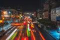 Thailand bangkok night bangkok street thanon ratchaprarop dec on december in Stock Image