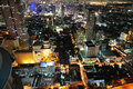 Thailand Bangkok night  city sky view Royalty Free Stock Photos