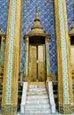 Thailand bangkok wat pho temple golden door Stock Photos