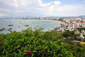 Thailand the bay of Pattaya Stock Image