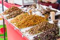 Thailand Bug fried sale business Asian Insect Snack food Royalty Free Stock Photo