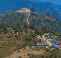 Thailand Burma Border Landscape at Doi Ang Khang Stock Photo