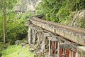 Thailand burma death railway follows the bents of the river kwai kanchanaburi thailand Stock Photo