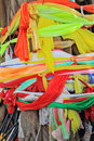Thailand the celebration of the new year ritual tree with multi colored ribbons and scarves Royalty Free Stock Image