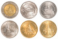 Thailand circulating coins collection set Royalty Free Stock Photo