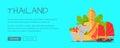 Thailand Conceptual Flat Style Vector Web Banner
