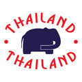 Thailand emblem with elephant Stock Photography
