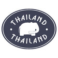 Thailand emblem with white elephant inside Royalty Free Stock Images