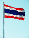 Thailand flag on sky background Royalty Free Stock Photo