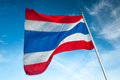 Thailand flagpole flagstaff national big Stock Images